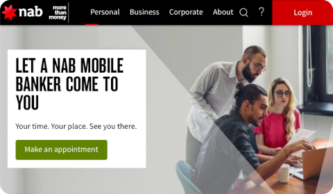 Let a NAB mobile banker come to you