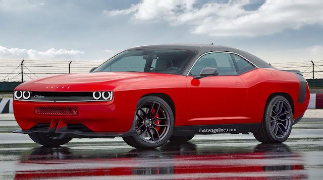 Dodge Challenger lights on