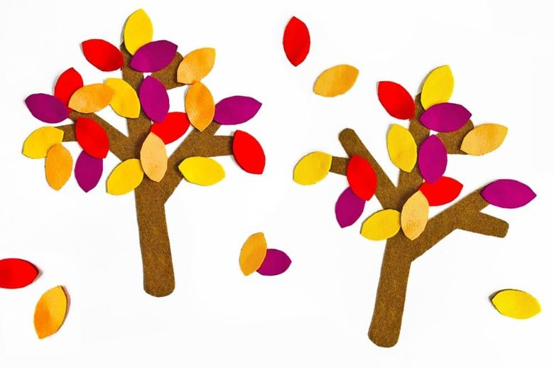 felt tree autumn craft for kids