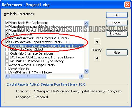 crystal reports activex designer failed to open