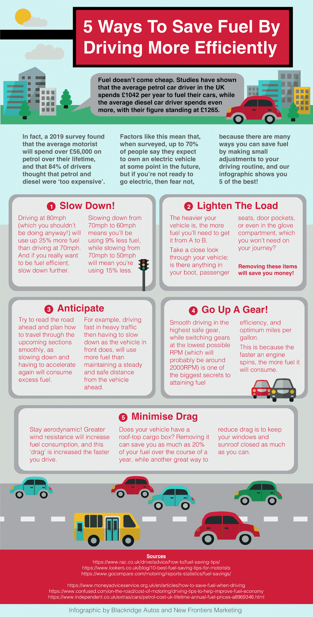 5 Ways To Save Fuel By Driving More Efficiently #infographic #Transportation #Save Fuel #Driving