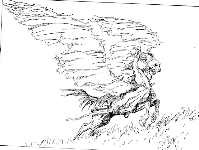 A.B. Frost line illustration of Pegasus