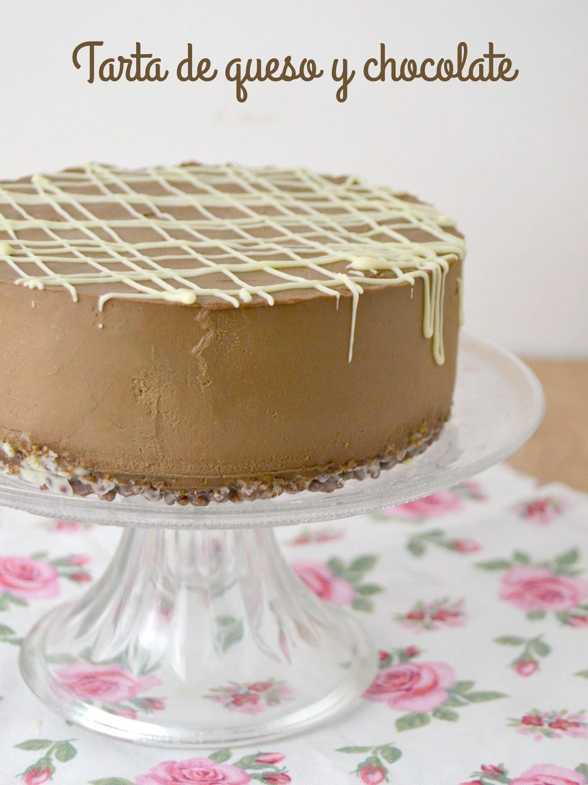 Tarta fría de queso con chocolate | Cuuking! Recetas de cocina