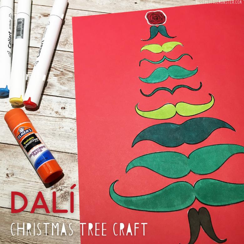 Salvador Dali Christmas Tree Art for Kids