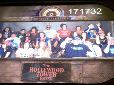 Riding the Tower of Terror at Disneyland before the runDisney Star Wars Half Marathon