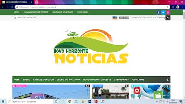 NOVO HORIZONTE NOTICIAS - O SEU PORTAL DE NOTICIAS MUNICIPAIS