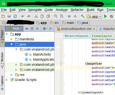 Rename or Change Package Name in Android Studio