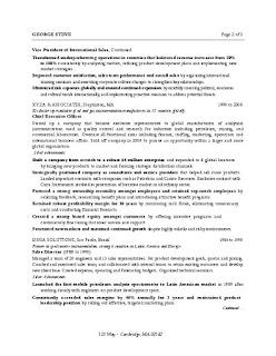 MBA Sales Resume Sample