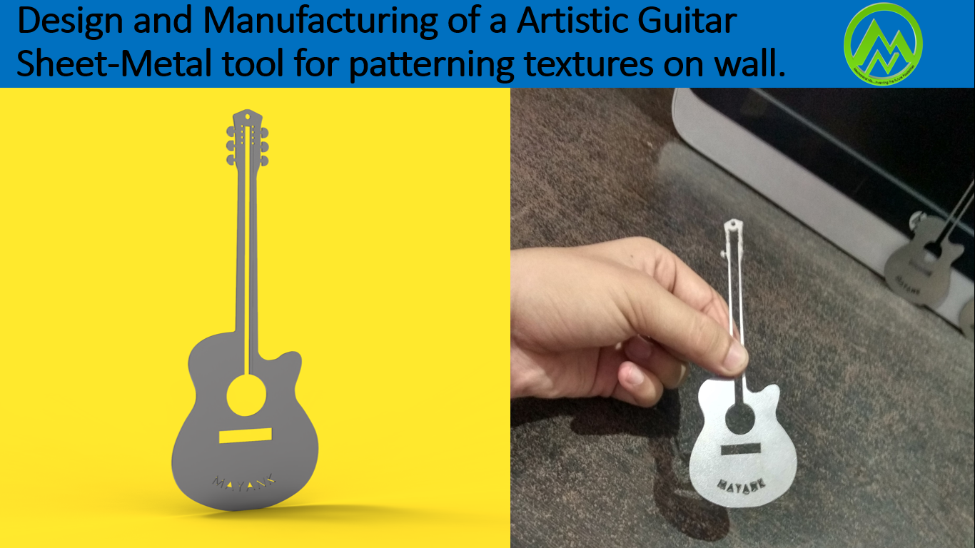 Sheet Metal Guitar by Mechanical Nib