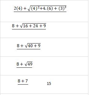 Cálculo numérico com raiz e regra de sinais