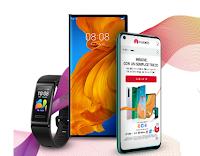 """Logo Concorso Huawei """" Midsummer win"""" : vinci gratis Huawei Mate XS, P40 Lite e Band 4 Pro"""