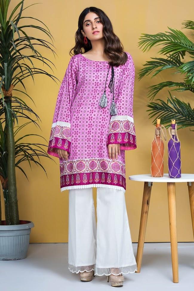 Warda lawn shirt Jamni color