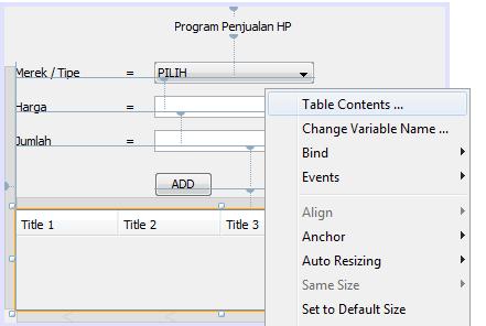 5 - Tutorial Mmebuat Aplikasi Penjualan HP Menggunakan Java