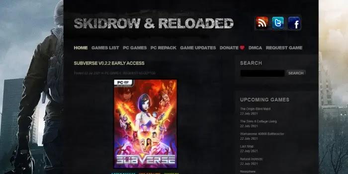 Skidrow & Reloaded - tempat download game pc yang aman tanpa virus