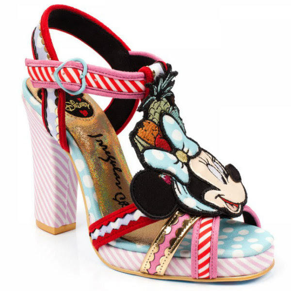 irregular choice disney tropical minnie sandal