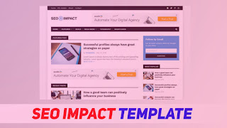 [Premium Blogger Template] SEO Impact | Best Choice For Blogger