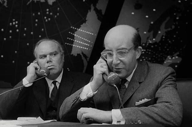 The Russian Ambassador listens in as President Muffley calls Moscow in Dr Strangelove