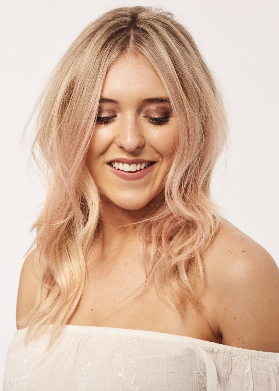 candy floss pink hair