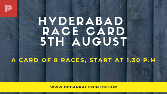 Hyderabad Race Card , free indian horse racing tips, trackeagle,racingpulse