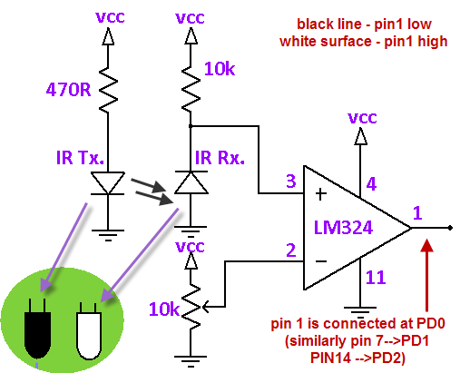 Circuit Diagram For Line Follower Robot