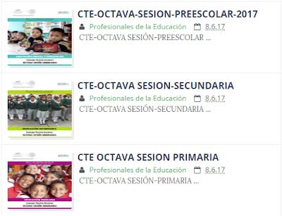 CTE OCTAVA SESIÓN PREESCOLAR PRIMARIA SECUNDARIA
