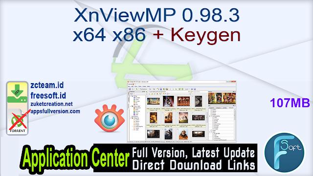 XnViewMP 0.98.3 x64 x86 + Keygen_ ZcTeam.id