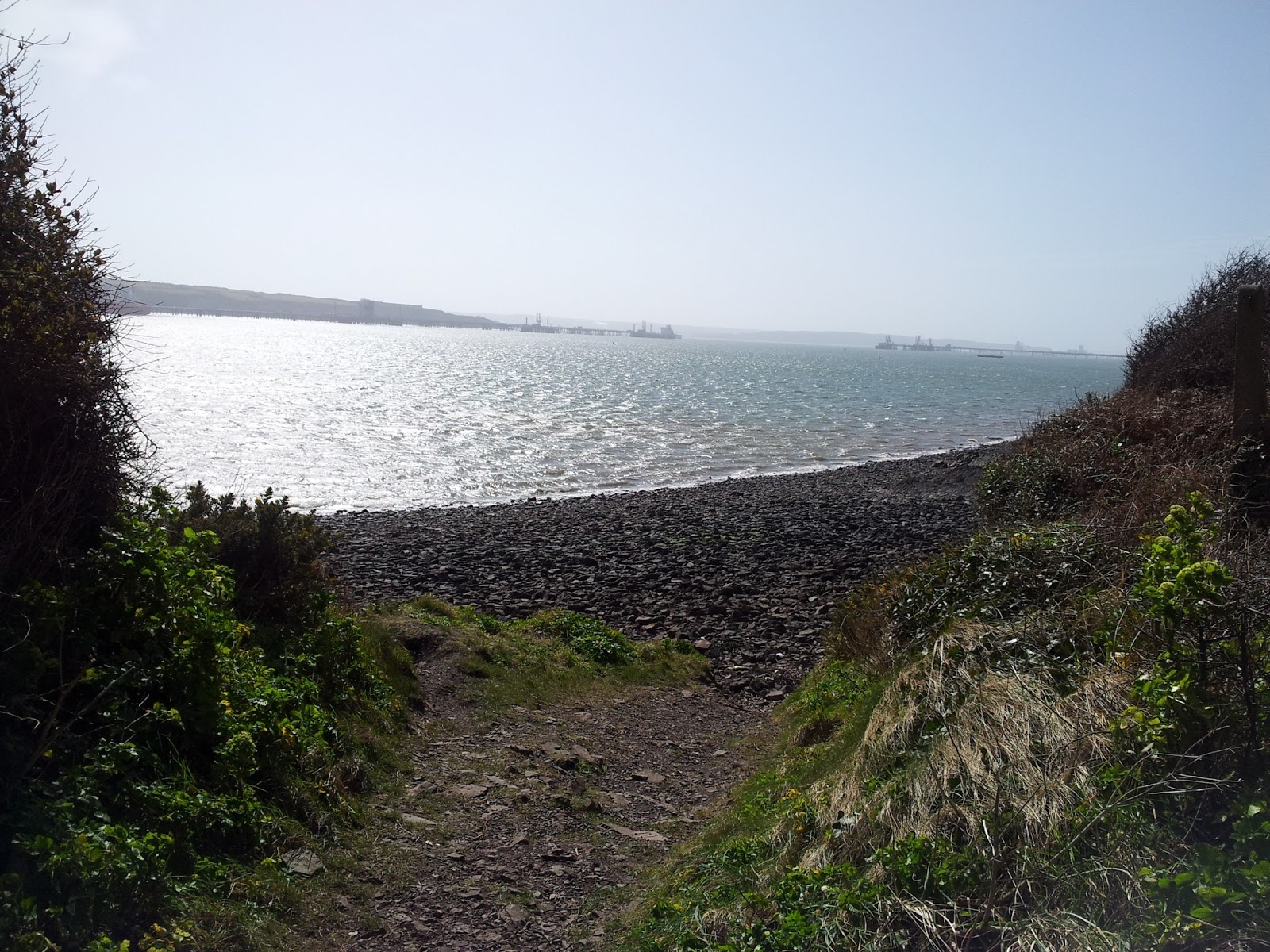 Docks to Rath walk Milford Haven Scotch Bay