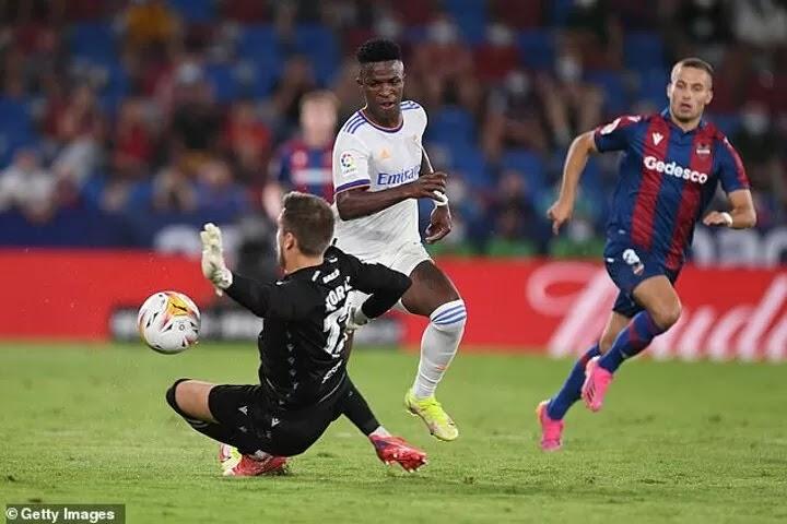 Levante 3-3 Real Madrid: Vinicius nets brace & rescues a point, Bale scores
