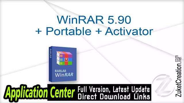 WinRAR 5.90 + Portable + Activator