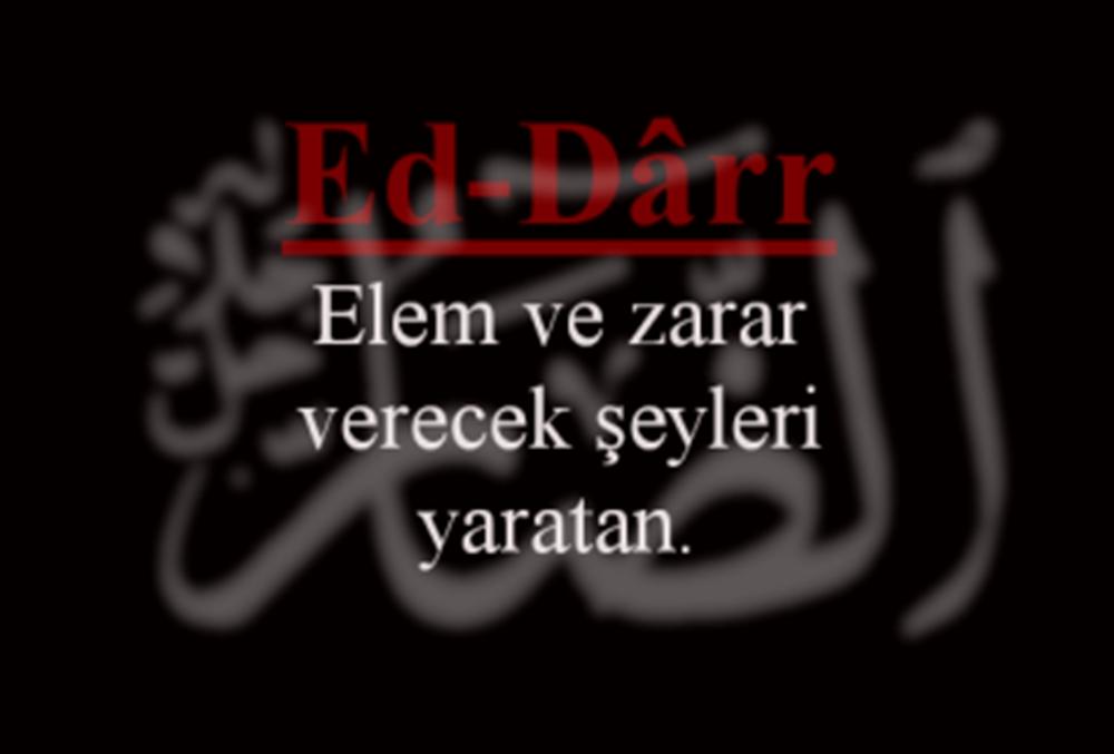 Ed-Darr Esmasının Zikri, Anlamı ve Fazileti