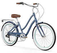 Sixthreezero EVRYjourney Women's Touring Hybrid Cruiser Bicycle, navy