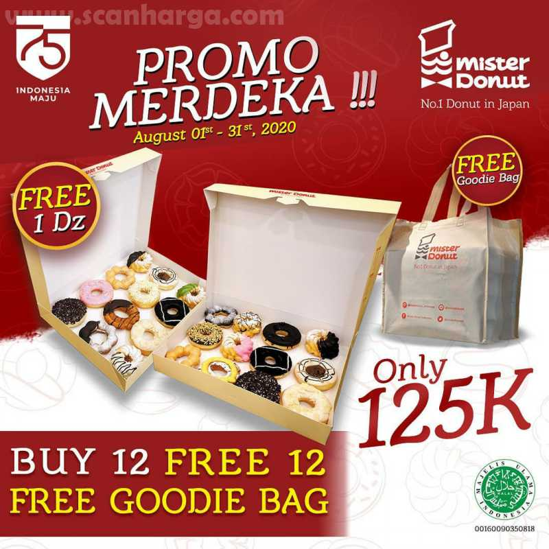 Promo Mister Donut Paket Merdeka