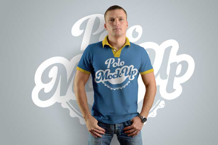 Polo T-Shirts Man Mockups