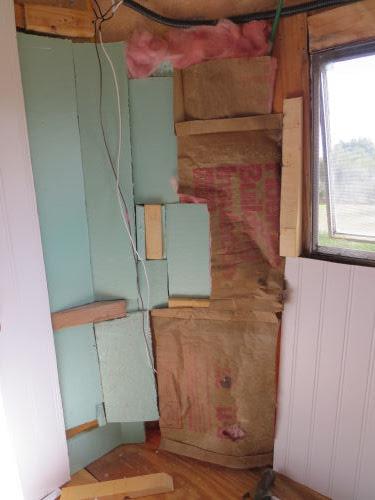 insulation in a fiberglass trailer