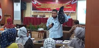 Kadiv Pelayanan Hukum Dan HAM Kemenkumham Provinsi Jambi Membuka Secara Resmi Kegiatan Promosi Dan Diseminasi Desain Industri.