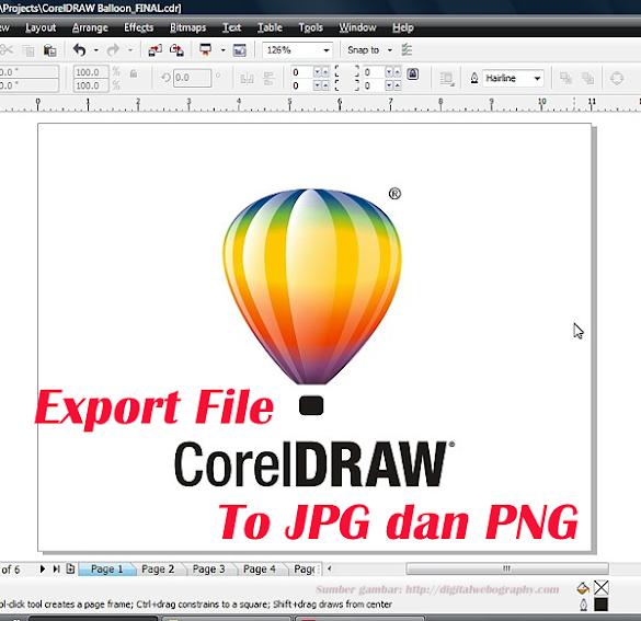 Cara Export File Coreldraw Ke JPG Dan PNG Dengan Mudah