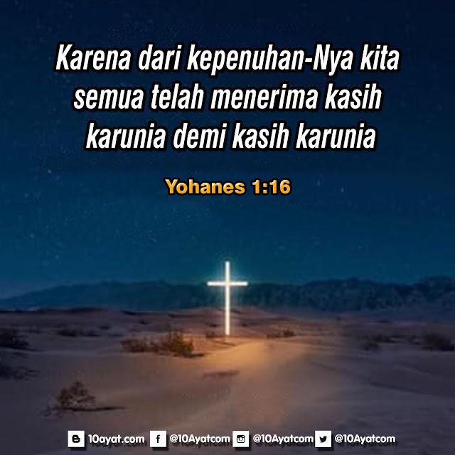 Yohanes 1:16