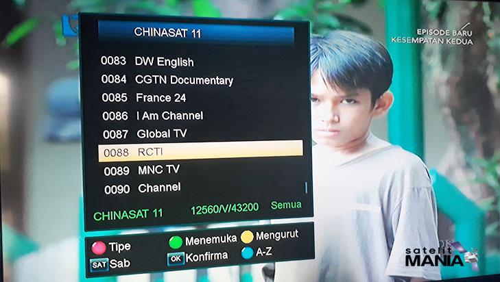 Inilah Update Terbaru Frekuensi Channel Ninmedia di Satelit Chinasat 11