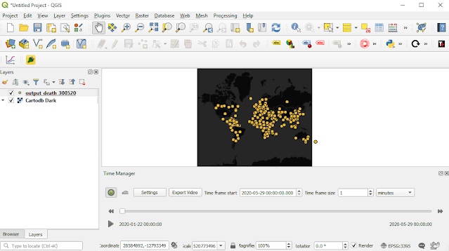 QGIS with Time Manager Plugin