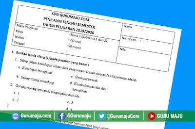 Soal UTS/ PTS Kelas 5 Semester 1 K13 Revisi Tahun 2019
