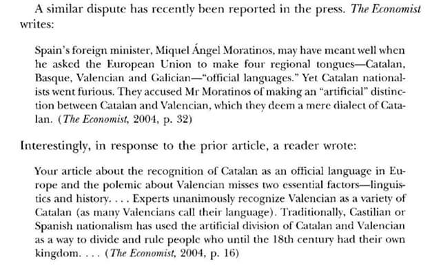 the economist , valencian, catalan