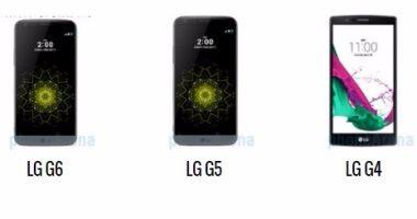 مقارنة بين هواتف LG G6 و LG G5 و LG G4 المطروحة من شركة LG