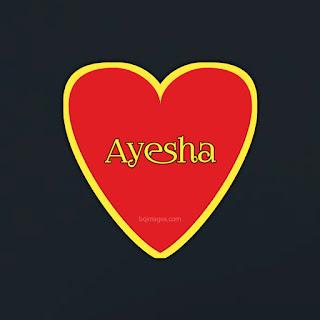 Ayesha name DP for whatsapp