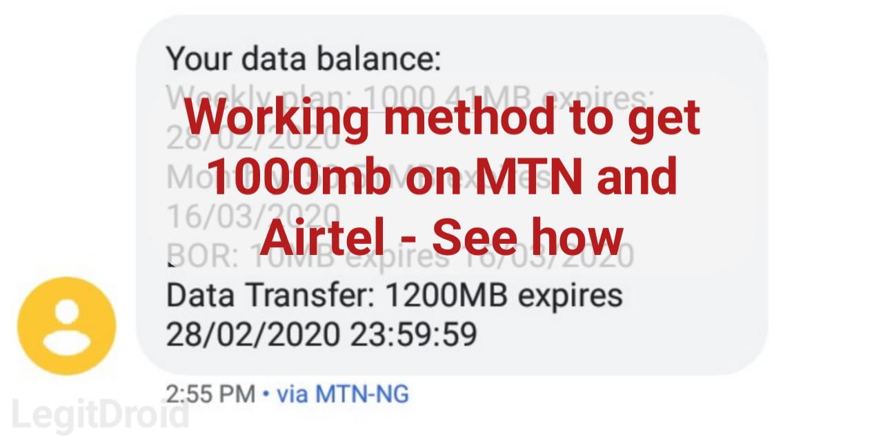 Free MTN data Airtel