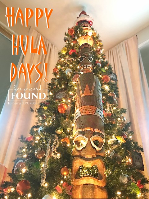 tiki bar, tikis, tiki culture, tiki hut, tropical decor, happy HULAdays, home decor, diy decor, holiday home decor, holiday
