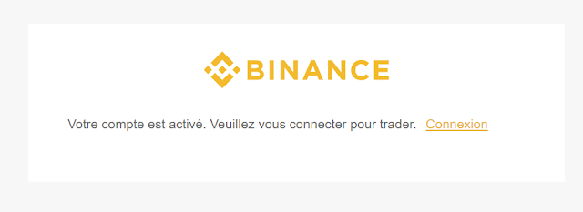 activation du compte Binance