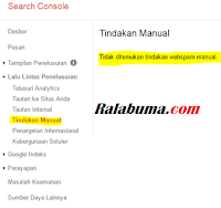 cara mengembalikan blog yang tidak terindeks google tindakan manual search console