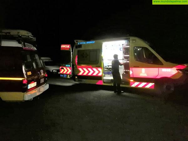 """Rescatada de madrugada una persona en la Playa de """"El Callejoncito"""" en Garafía"""