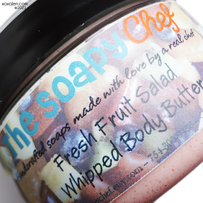 xoxoJen's swatch of The Soapy Chef Fresh Fruit Salad whipped body butter