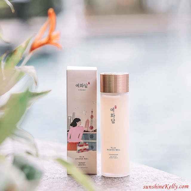 Yehwadam First Serum, Skin's Qi Balancing, The Face Shop, The Face Shop Malaysia, Beauty, Skincare, Yehwadam, Why Yehwadam First Serum, 5 benefits of yehwadam, women applying face serum,